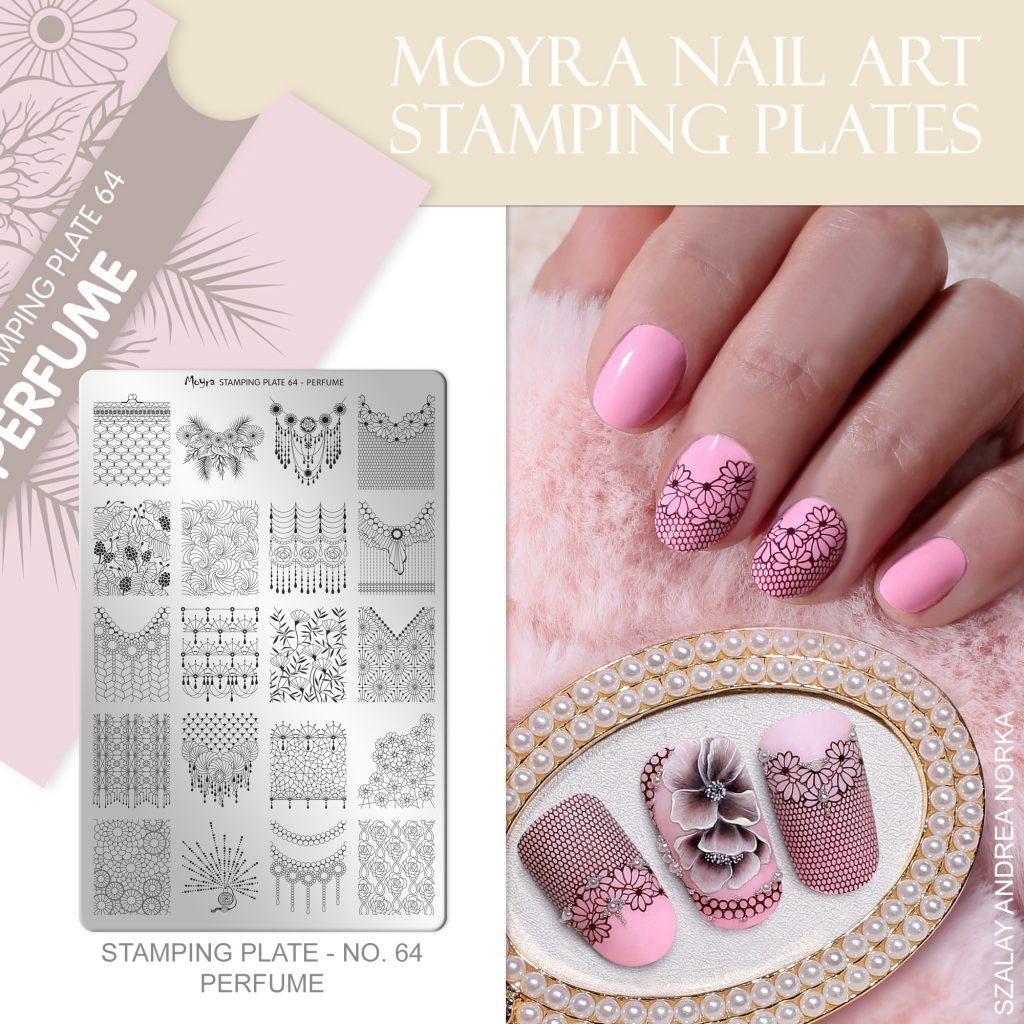 Moyra Nail Art Stamping Plate No. 64 Perfume