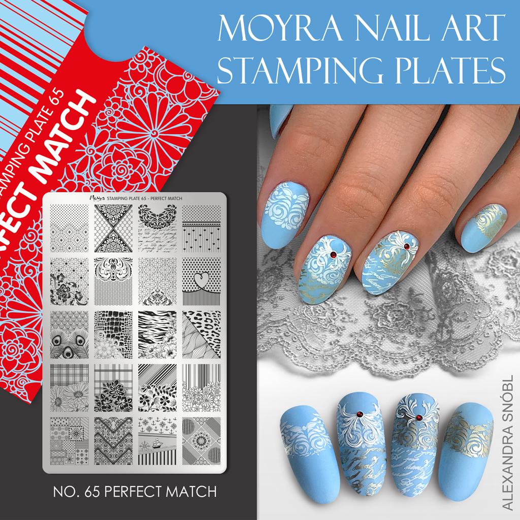 Moyra Nail Art Stamping Plate No. 65 Perfect Match