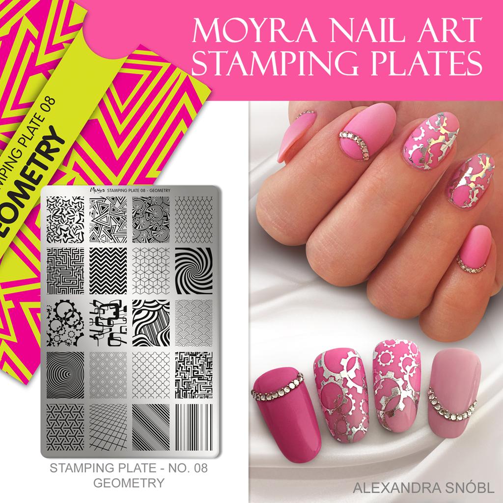 Moyra Nail Art Stamping Plate No. 08 Geometry