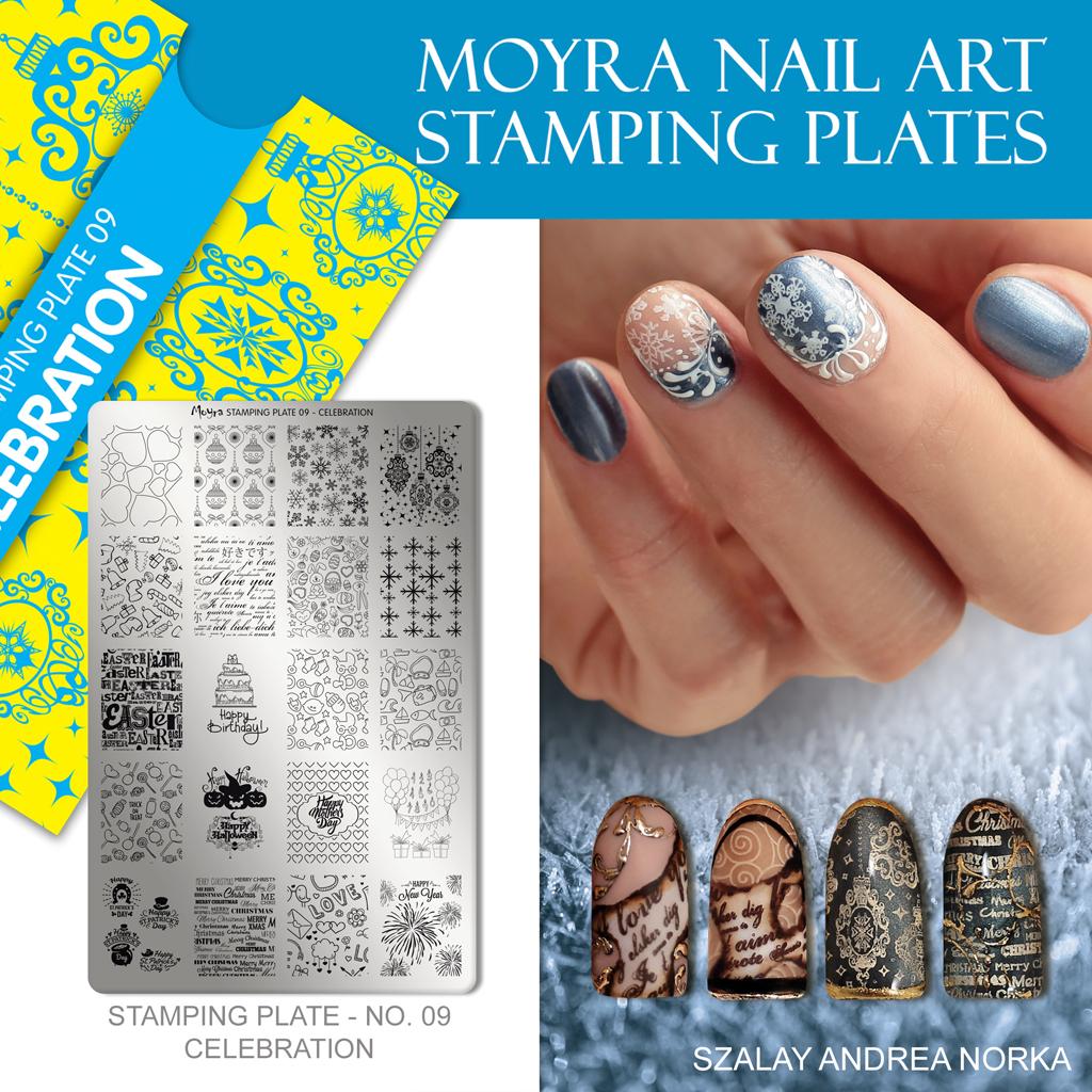 Moyra Nail Art Stamping Plate No. 09 Celebration