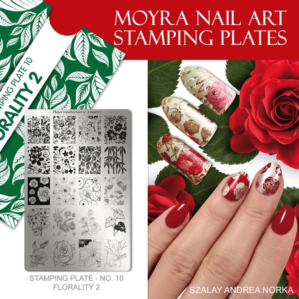 Moyra Nail Art Stamping Plate No. 10 Florality 2