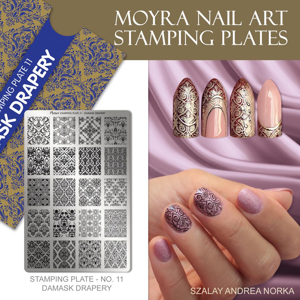 Moyra Nail Art Stamping Plate No. 11 Damask Drapery