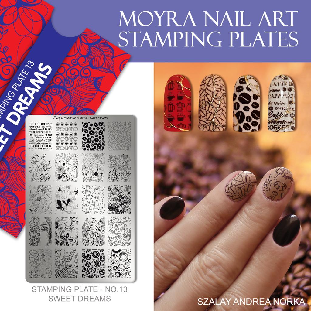 Moyra Nail Art Stamping Plate No. 13 Sweet Dreams