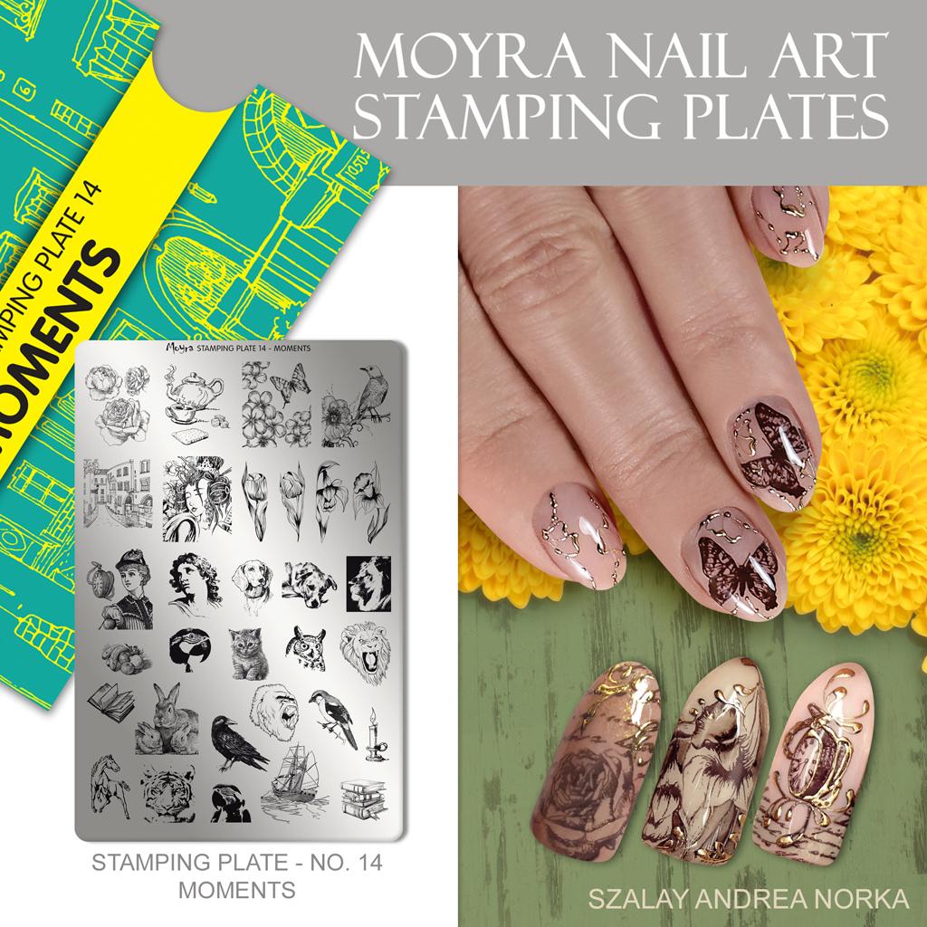 Moyra Nail Art Stamping Plate No. 14 Moments