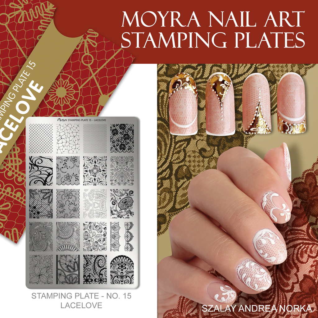 Moyra Nail Art Stamping Plate No. 15 Lacelove