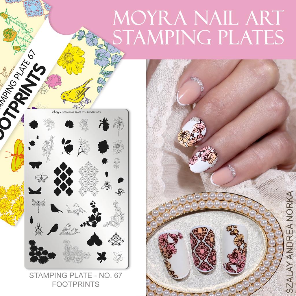 Moyra Nail Art Stamping Plate No. 67 Footprints