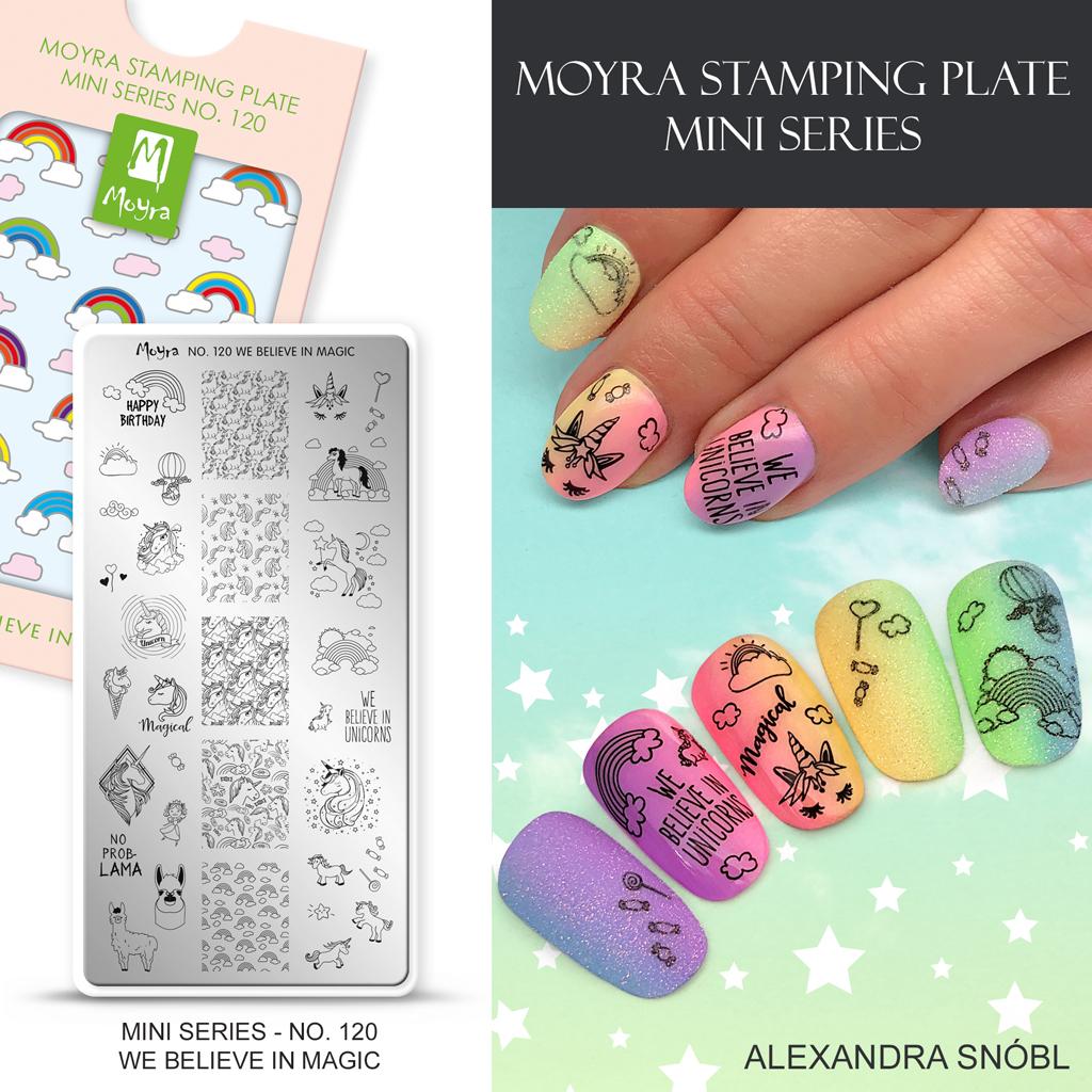 Moyra Mini Nail Art Stamping Plate No. 120