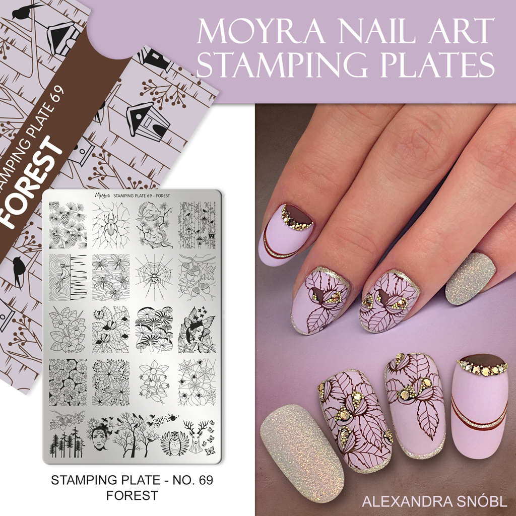 Moyra Nail Art Stamping Plate No. 69 Forest