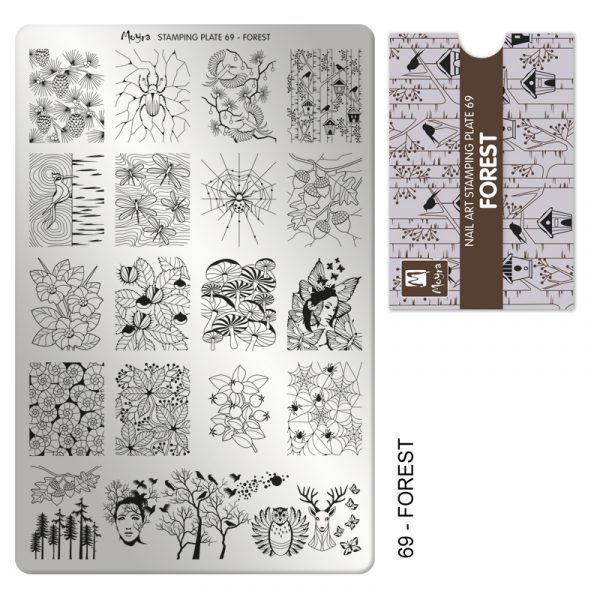 Moyra stamping plate 69 Forest