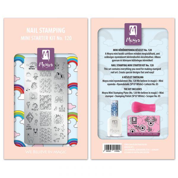Mini nail stamping starter kit No. 120
