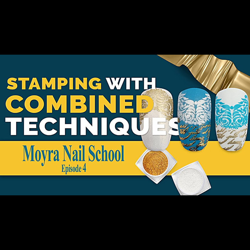 How to Stamp with Combined Techniques | Moyra Nail School Ep. 4