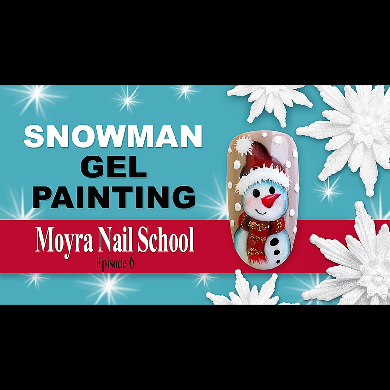 Painting a snowman easily | Moyra Nail School Ep. 6