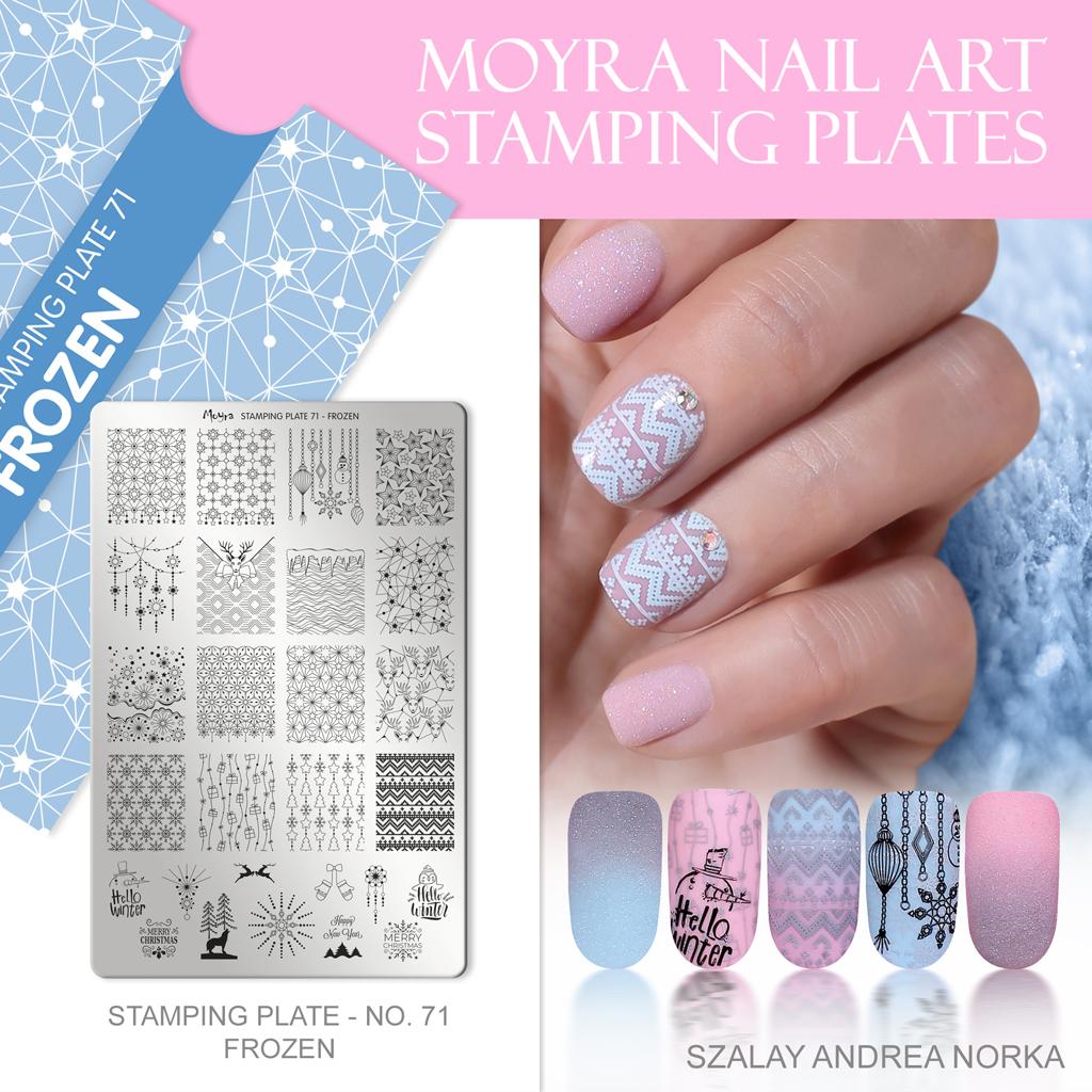 Moyra Nail Art Stamping Plate No. 71 Frozen
