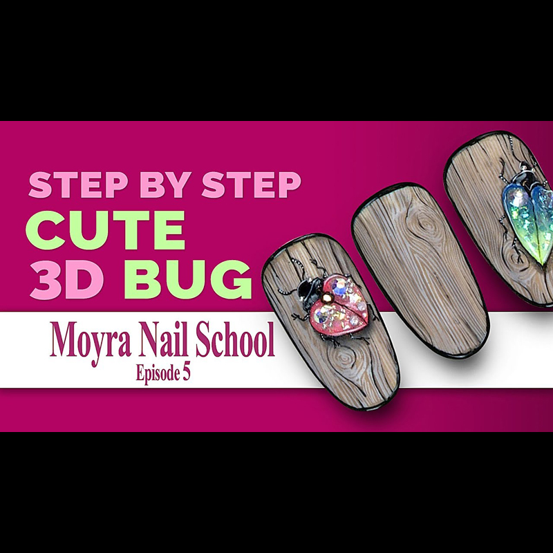 Cute 3D bug on your nail - step by step!