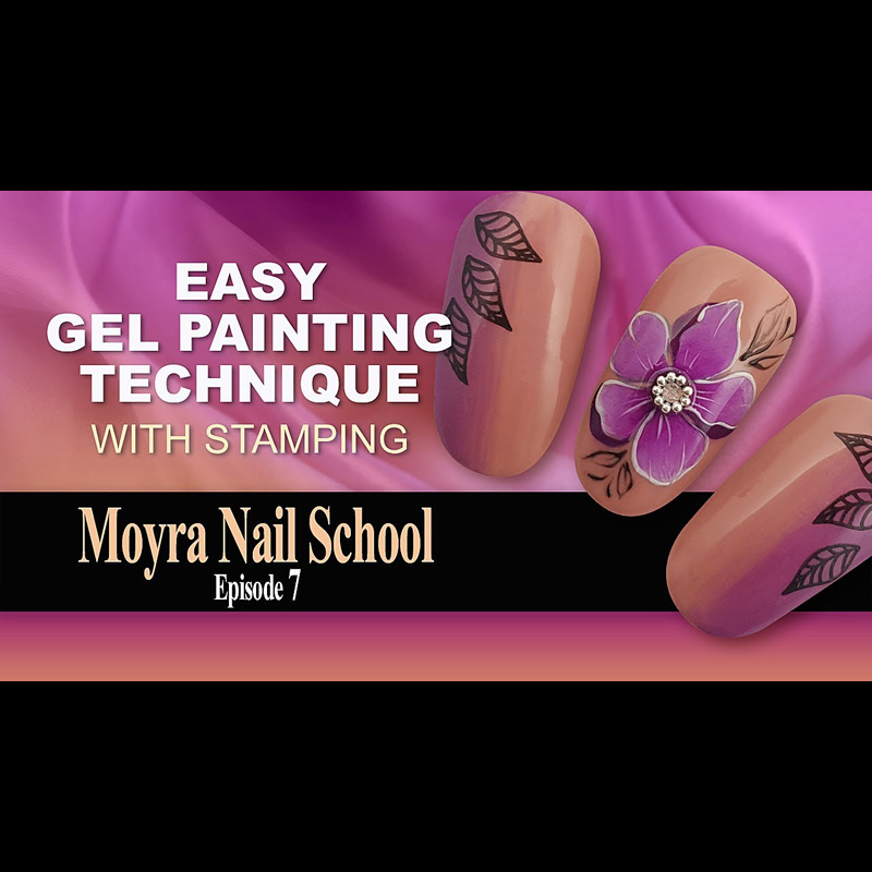 Easy Gel Painting Technique with Stamping | Moyra Nail School Ep. 7