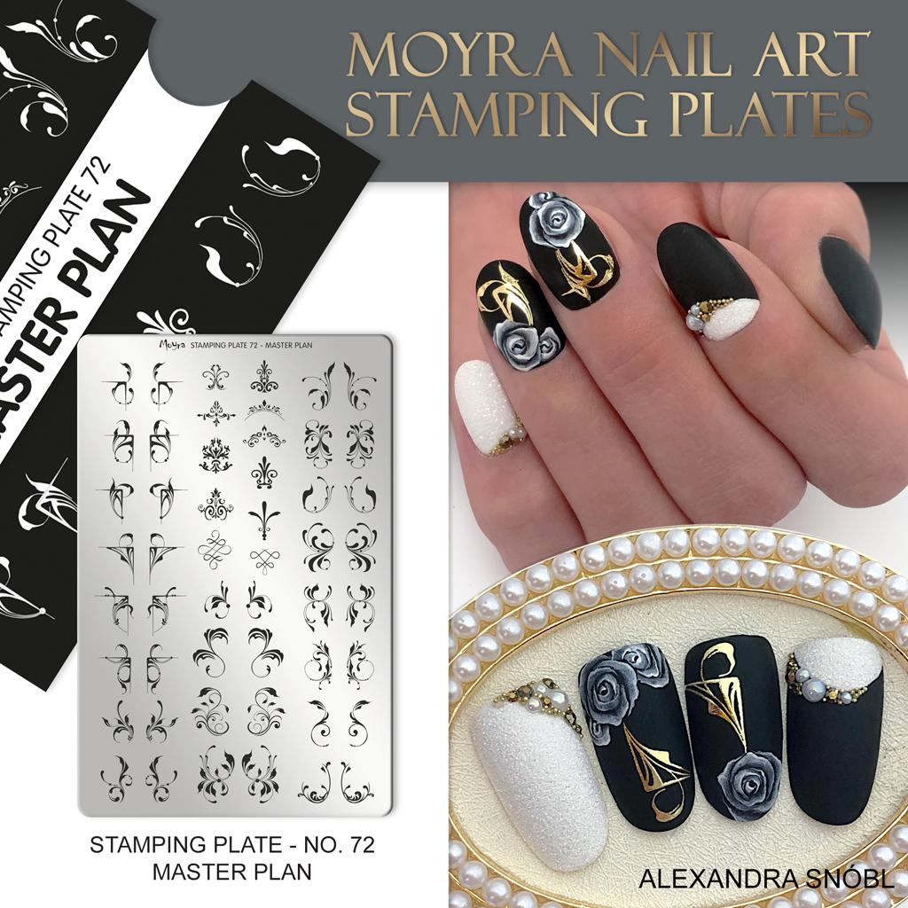 Moyra Nail Art Stamping Plate No. 72 Master Plan