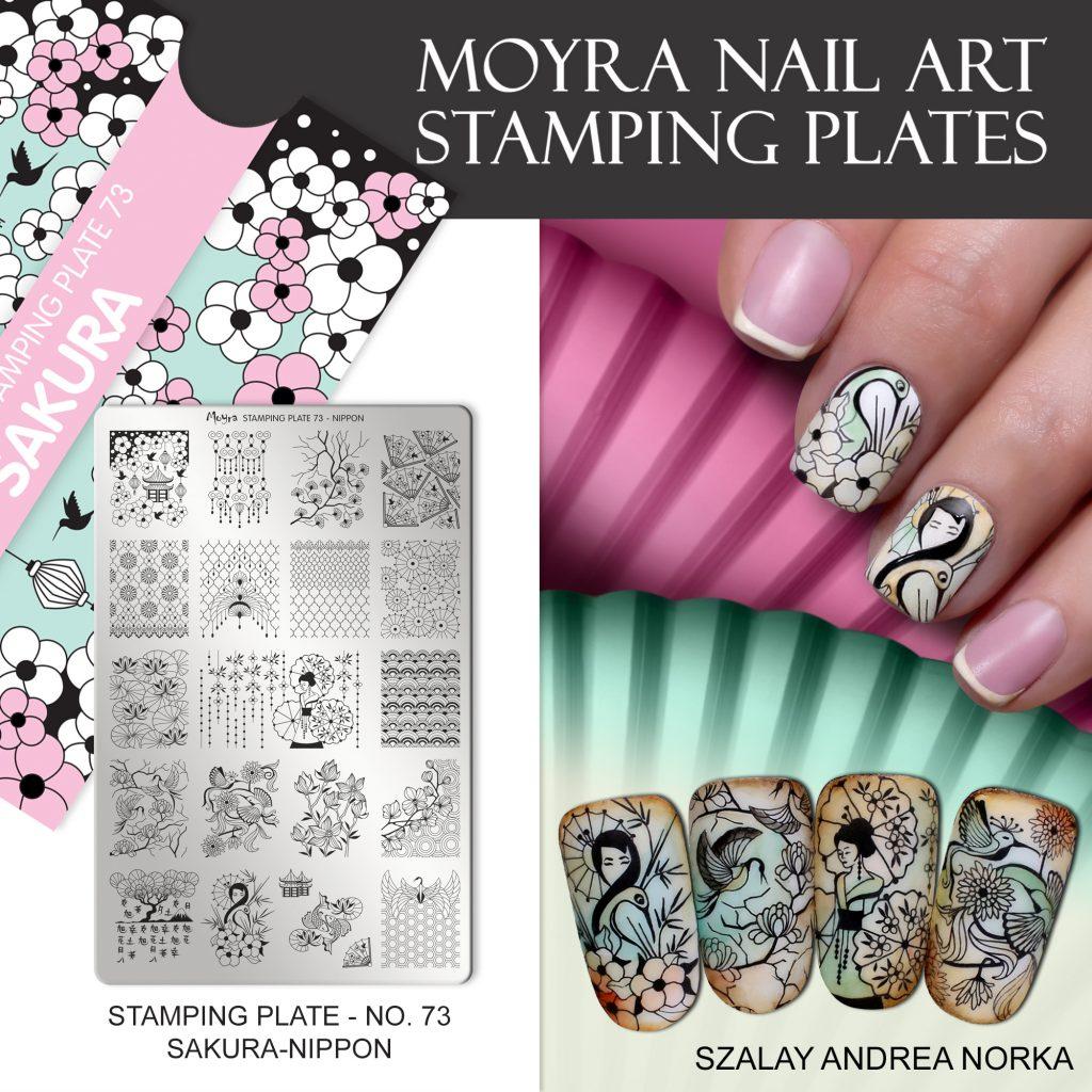 Moyra Nail Art Stamping Plate No. 73 Sakura