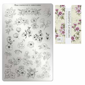 Moyra stamping plate 75 Norka's garden