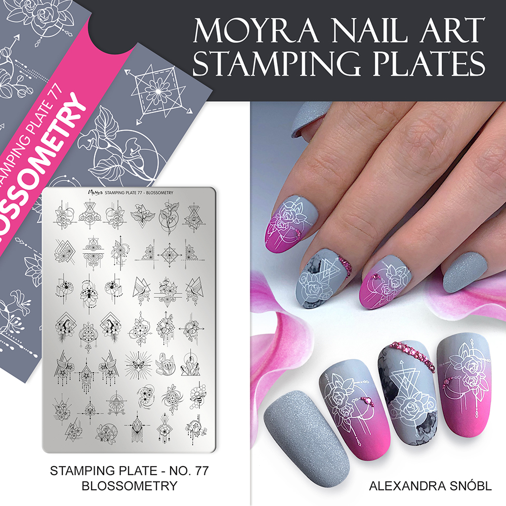 Moyra stamping plate 77 Blossometry