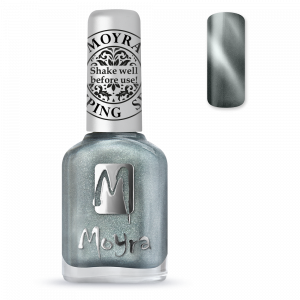 Moyra stamping nail polish Sp 30, Cat Eye Magnetic Silver