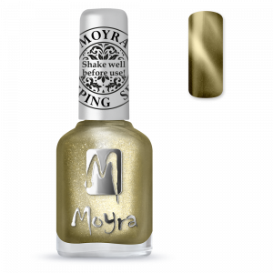Moyra stamping nail polish Sp 31, Cat Eye Magnetic Gold