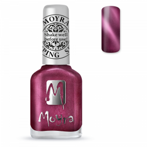 Moyra stamping nail polish Sp 32, Cat Eye Magnetic Red