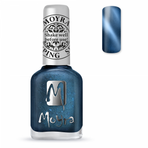 Moyra stamping nail polish Sp 33, Cat Eye Magnetic Blue