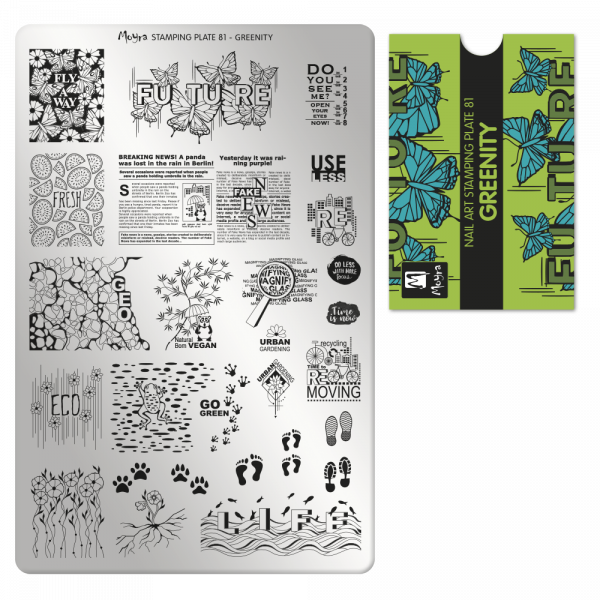 Moyra stamping plate 81 Greenity