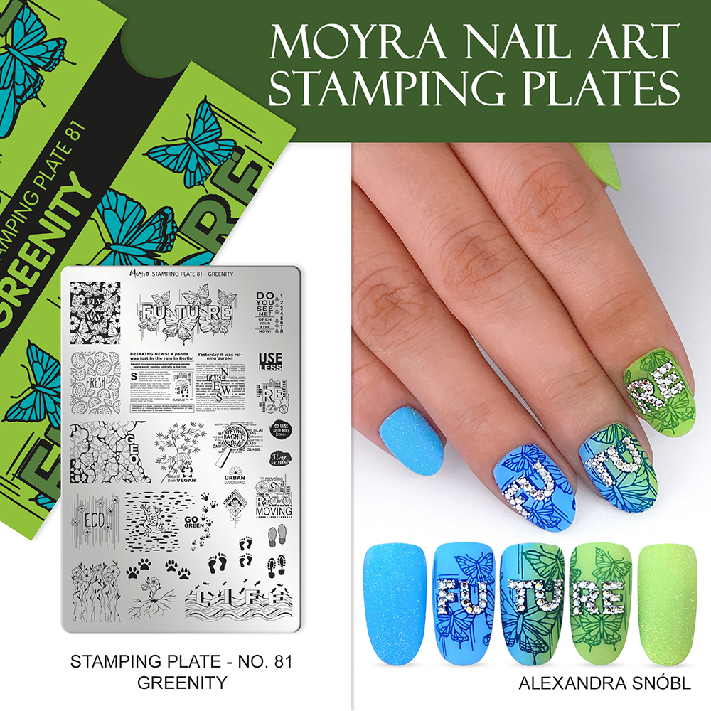 Moyra stamping plate No. 81 Greenity