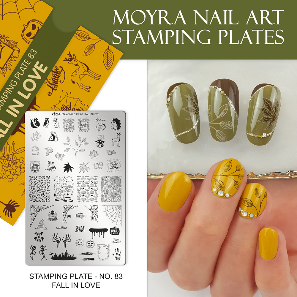Moyra stamping plate No. 83 Fall in love