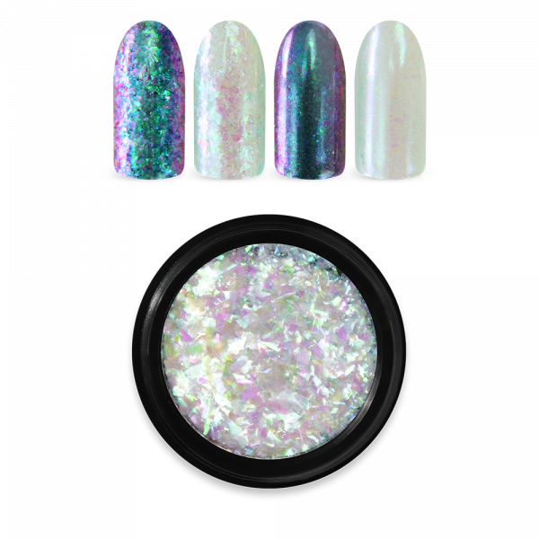 Moyra Rainbow Flakes, Green