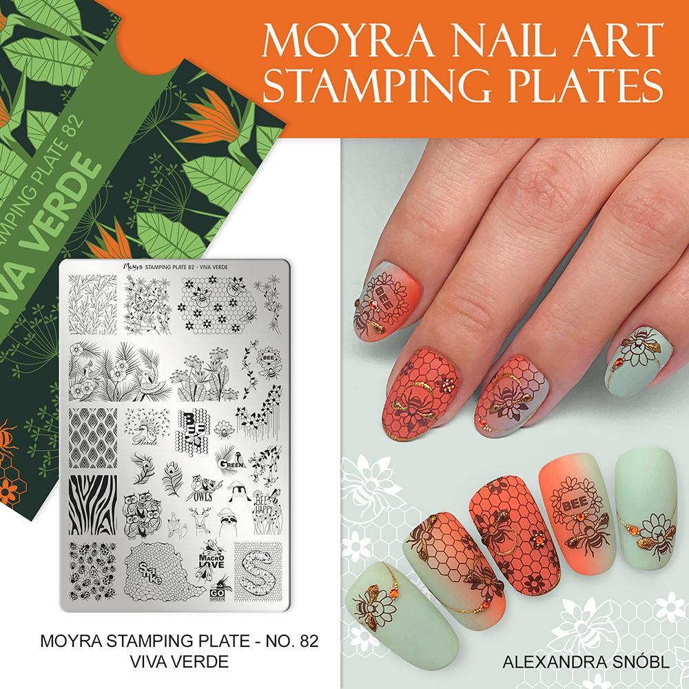 Moyra stamping plate No. 82 Viva verde