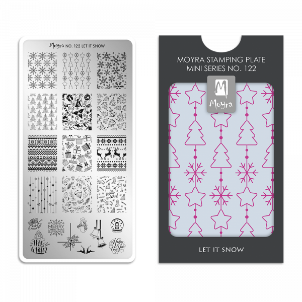 Moyra mini stamping plate 122 Let it snow