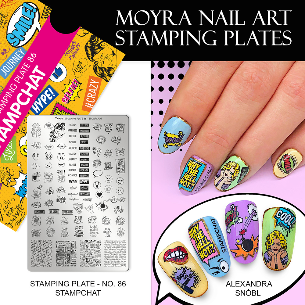 Moyra stamping plate No. 85 Stampchat