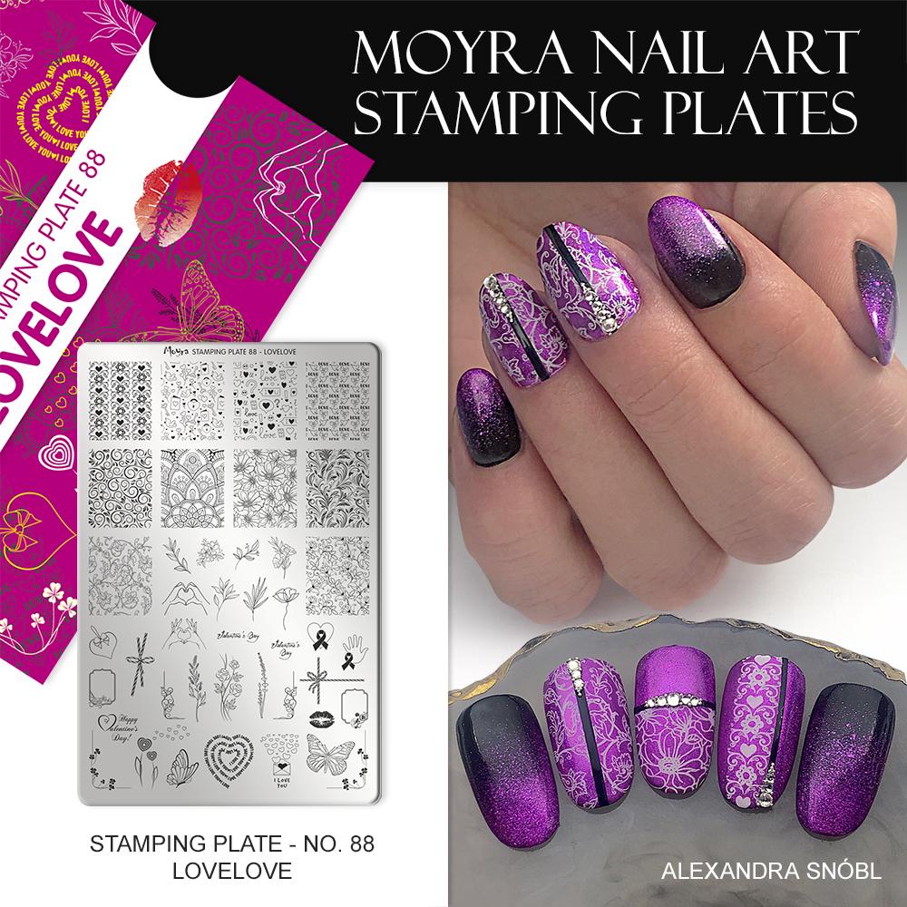 Moyra nail art stamping plate No. 88 Lovelove