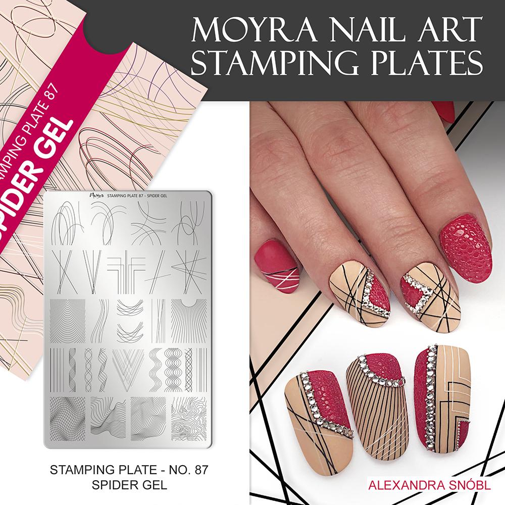 Moyra nail art stamping plate No. 87 Spider gel