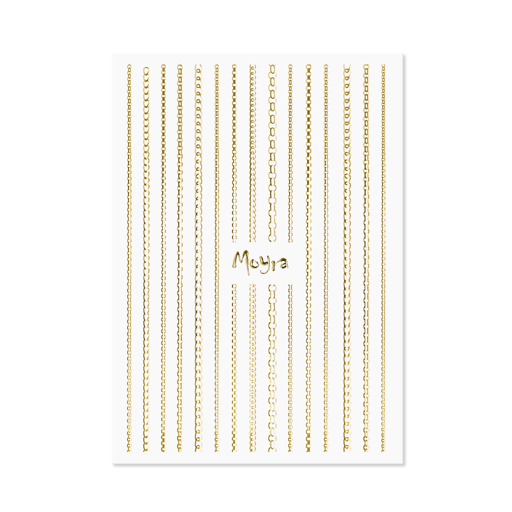 Moyra Nail art strip - Chain No. 01 Gold