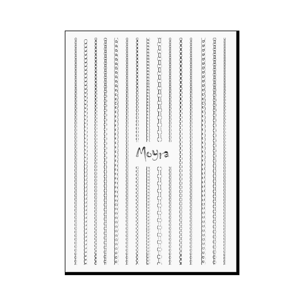 Moyra Nail art strip - Chain No. 02 Silver