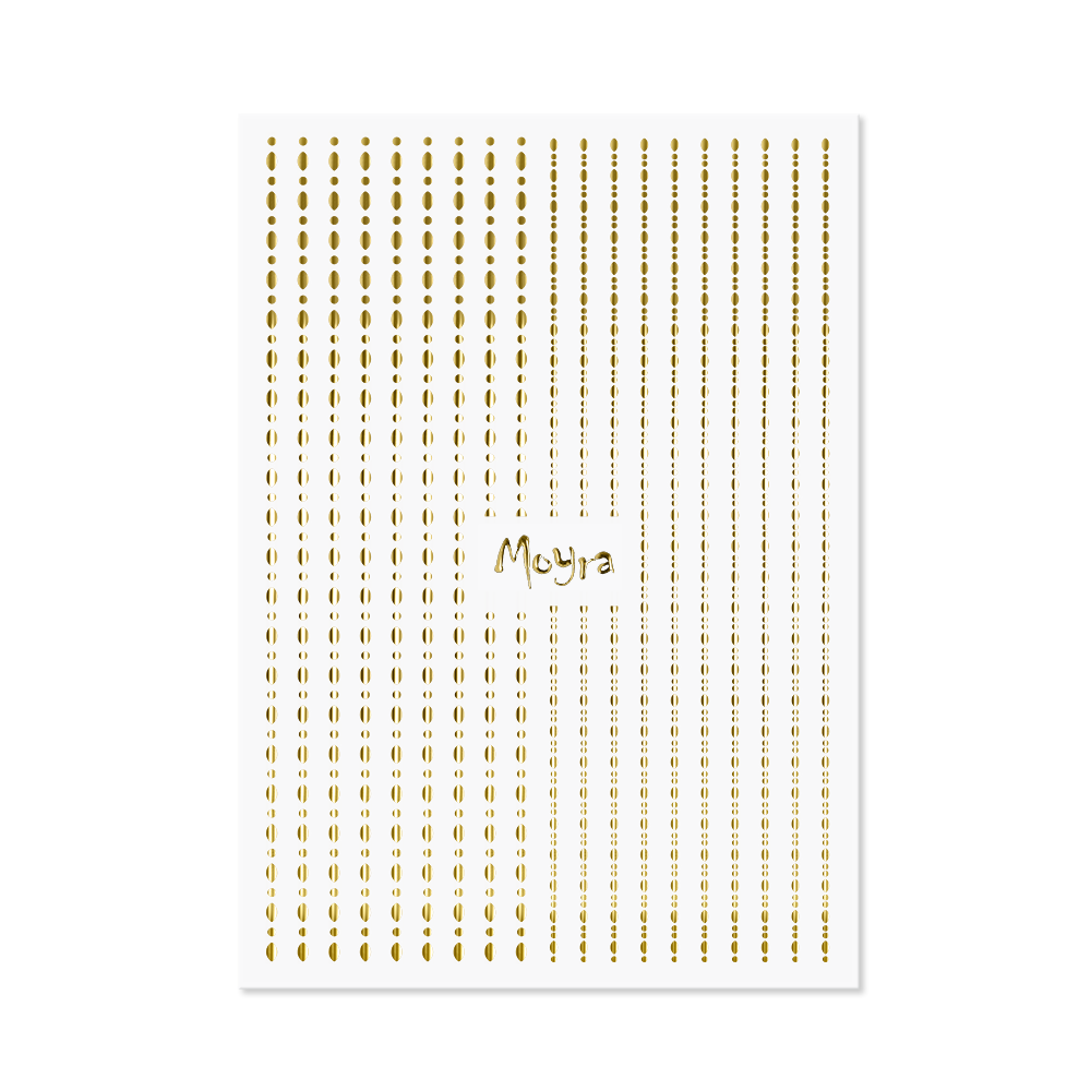 Moyra Nail art strips - Dots No. 01 Gold