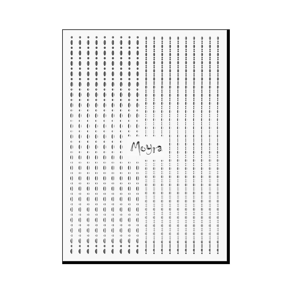 Moyra Nail art strips - Dots No. 02 Silver