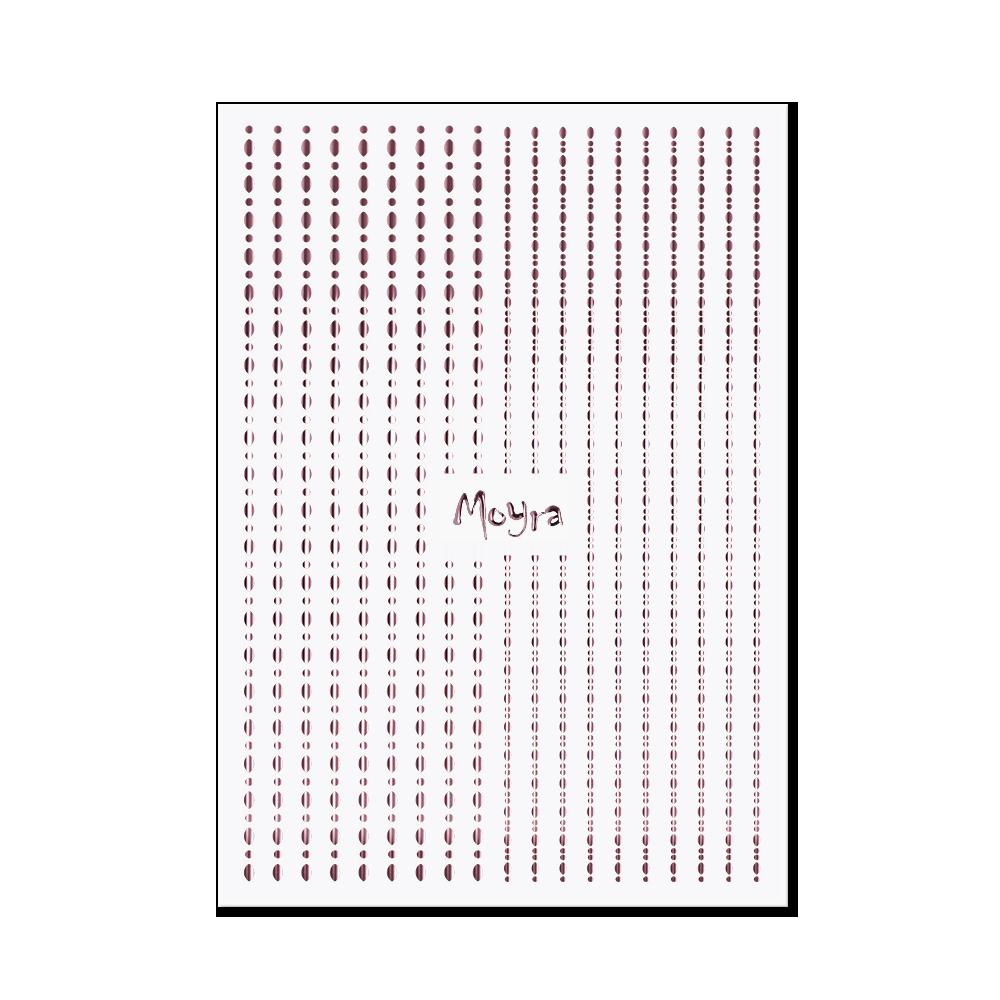 Moyra Nail art strips - Dots No. 03 Rose gold