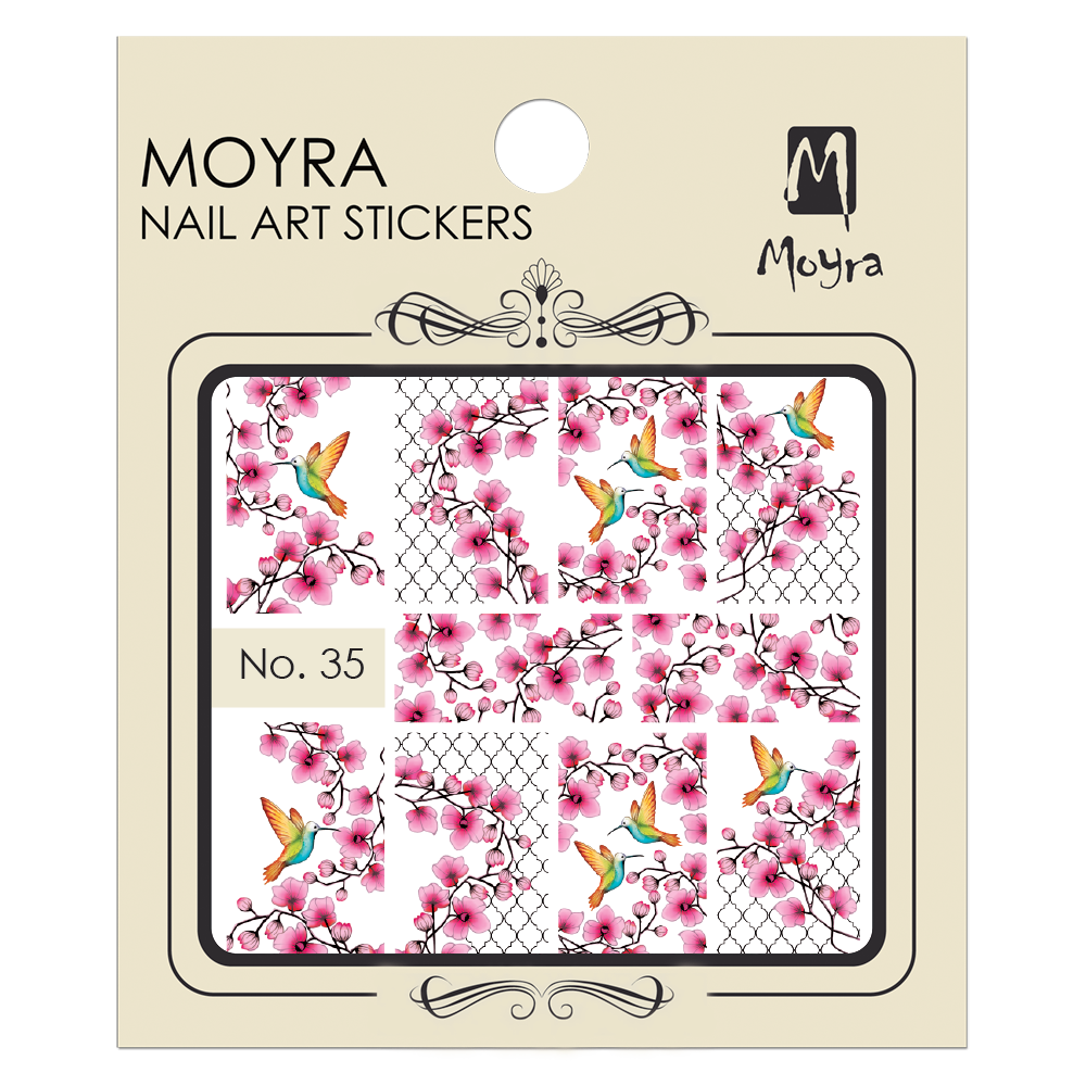 Moyra Nail art sticker No. 35