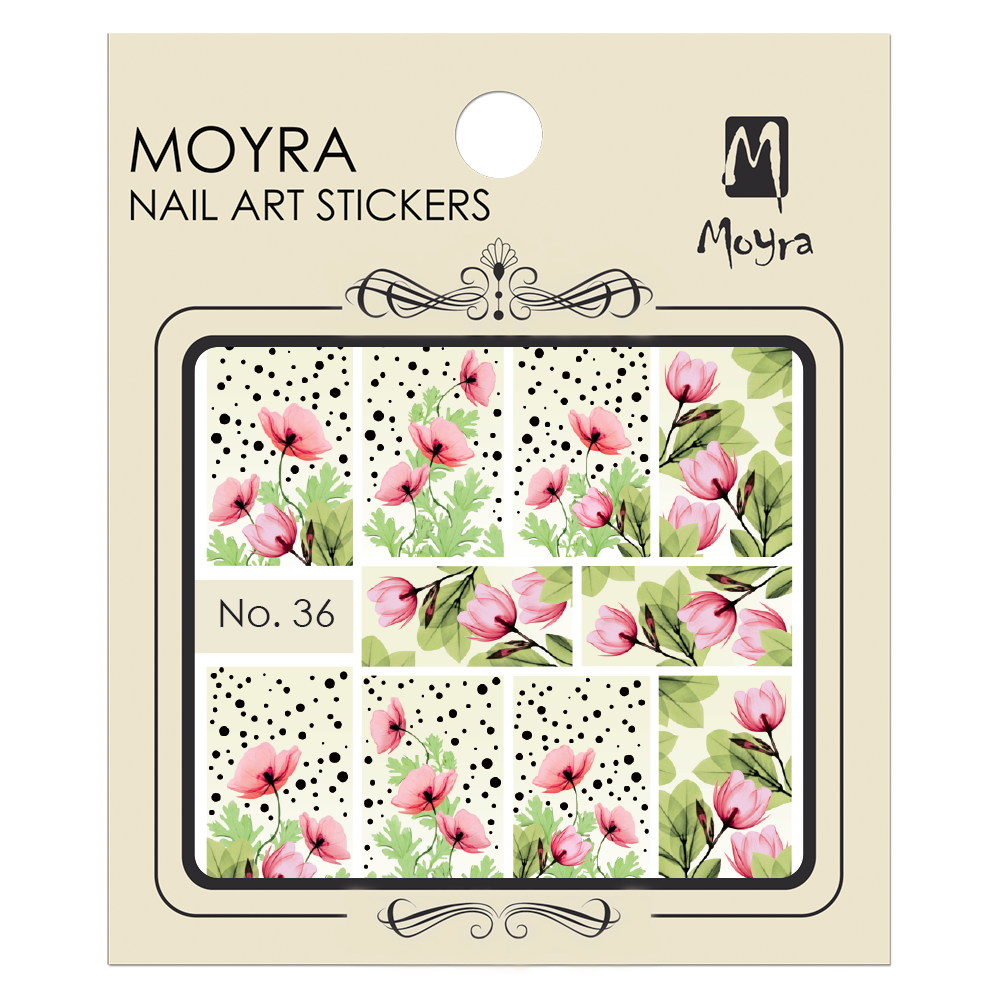 Moyra Nail art sticker No. 36