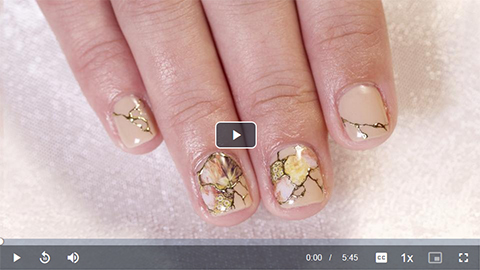 How to use nail art stickers tutorial video