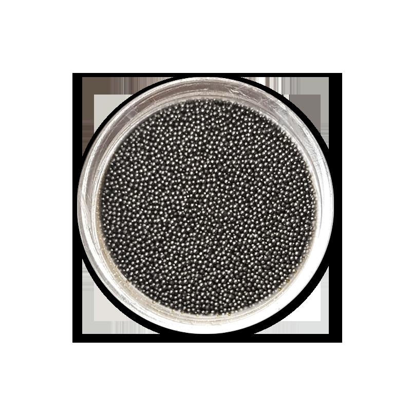 Caviar beads 0,4 mm - No. 07 Graphite