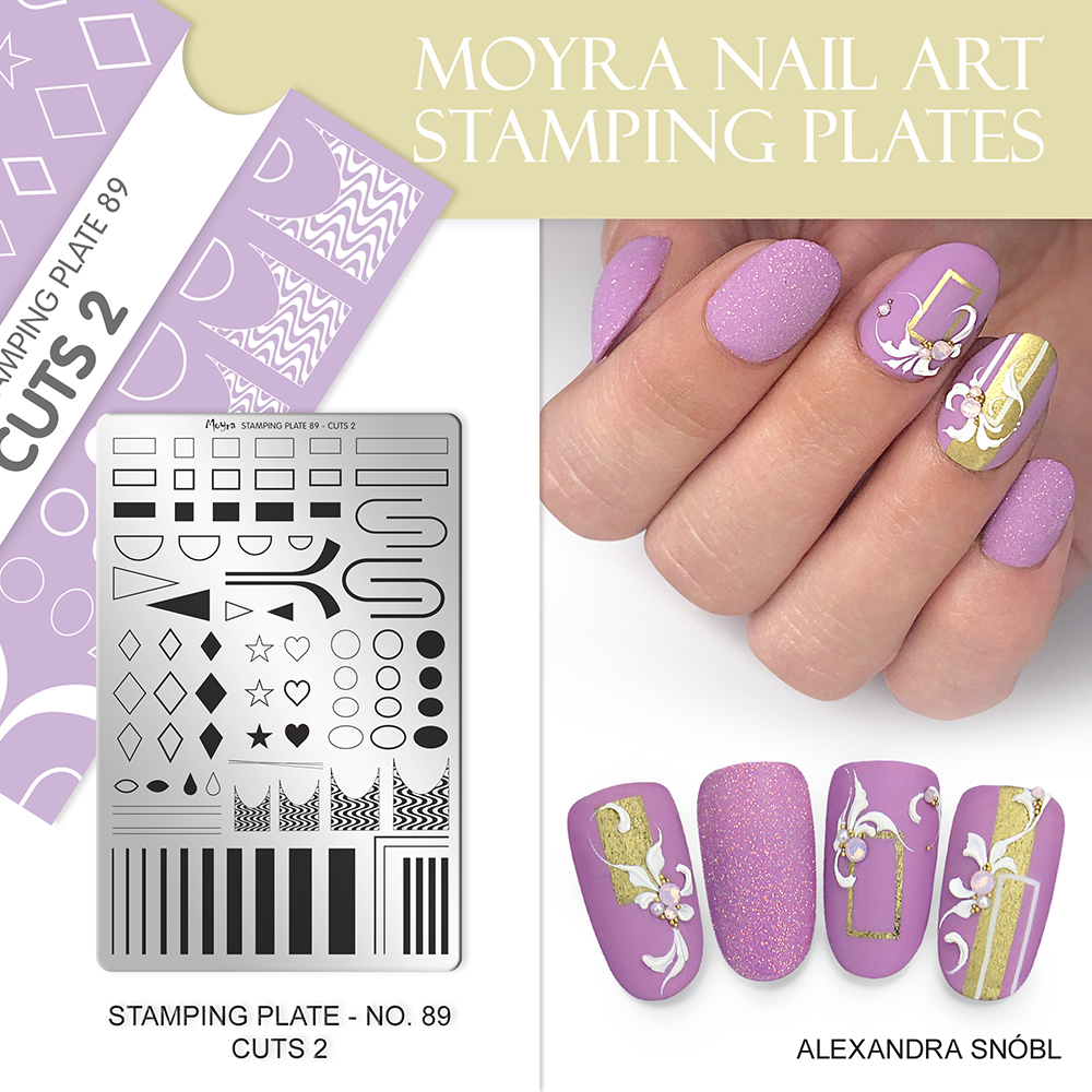 Moyra nail art stamping plate 89 Cuts 2