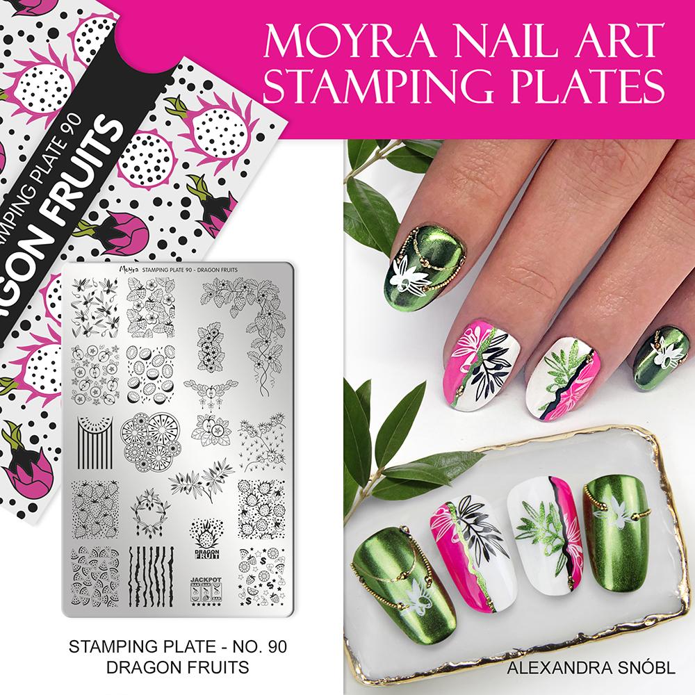 Moyra nail art stamping plate 90 Dragon fruits