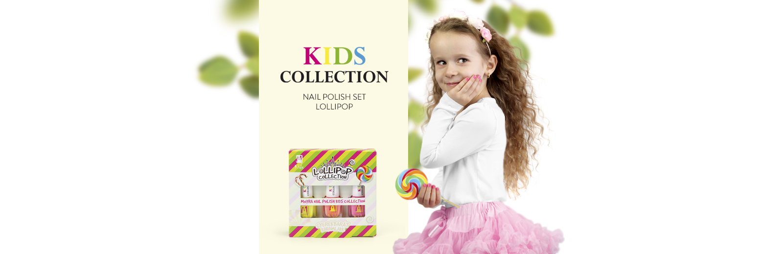 Moyra KIDS nail polish set Lollipop
