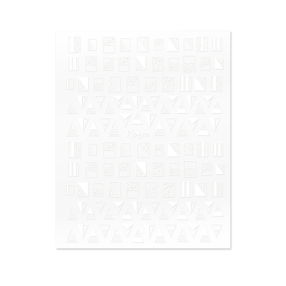 Moyra Nail art stickers No. 01, White