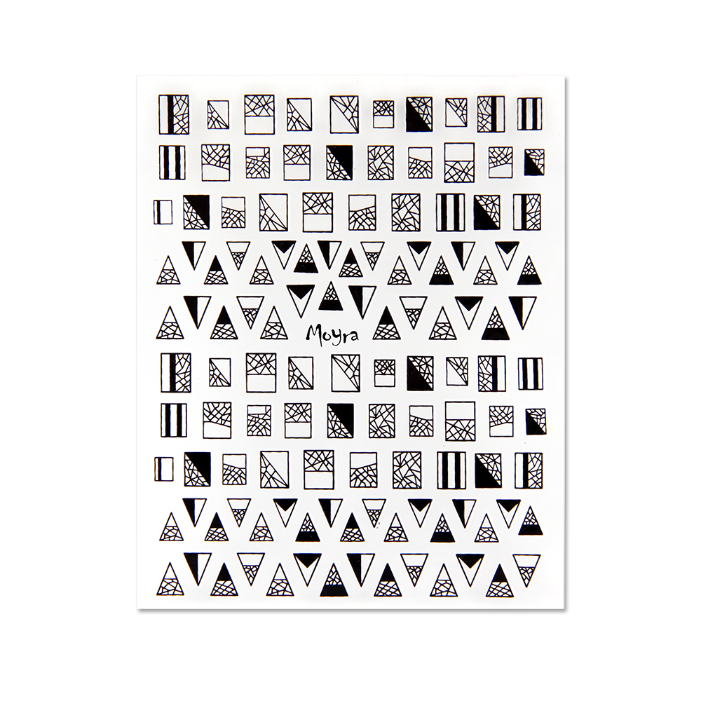 Moyra Nail art stickers No. 02, Black
